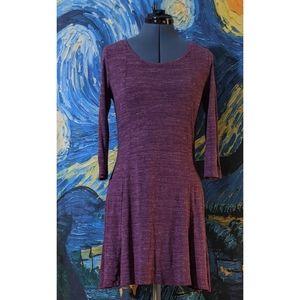 GAP 3/4 Sleeve Semi-Fitted Dress